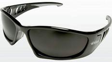 Edge Baretti Safety Glasses Black Frame, Smoke Lens