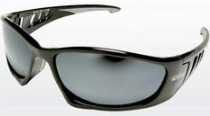 Edge Baretti Safety Glasses Black Frame, Silver Mirror Lens