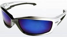 Edge #SK118 Kazbek Safety Eyewear w/ Blue Mirror Lens