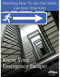 Emergency Escape Safety Poster (18 by 24 inch)
