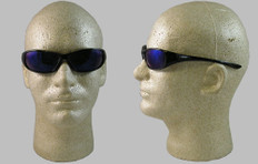 Jackson Hellraiser Safety Glasses with Blue Mirror Lens