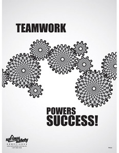 Teamwork Powers Success Safety Poster - 24X32
