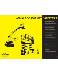 Aerial & Scissor Lift Safety Poster - 24X32