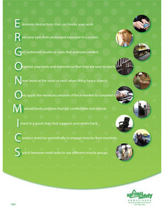 Ergonomics Informational Poster (24 by 32 inch)