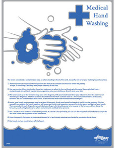 Medical Hand Washing Poster (24 by 32 inch)