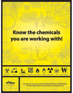 Know Your Chemicals Poster (24 by 32 inch)
