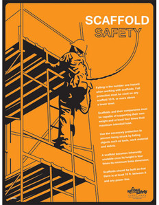 Scaffold Safety Poster (24 by 32 inch)