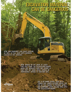 Excavation & Trenching Safety Poster (24 by 32 inch)