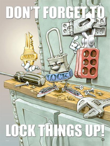Lock Things Up Safety Poster - 18X24