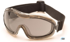 Pyramex #G724T Capstone Low Profile Safety Eyewear Goggles w/ Smoke Lens