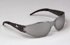 Erb Boas-Wraparounds Safety Glasses Silver Mirror Lens
