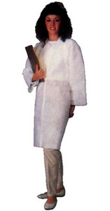Polypropylene Disposable Lab Coats, Fold Down Collar - two Pocket (30 per case)Disposable Lab Coat- two Pocket (30 per case)