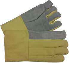 22 Oz High Temp glove with Leather Palm (14 inch) (sold by the pair)