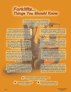 Forklift...Things You Should Know Poster - 18X24