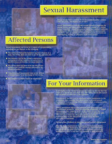 Sexual Harassment Informational Poster - 18X24