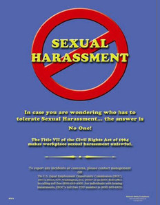 Do Not Commit Sexual Harassment Poster - 18X24