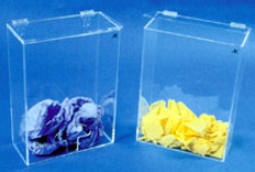 "Accessory Bin - Clear Acrylic - 12""W X 17""H X 6""D 1/4"""