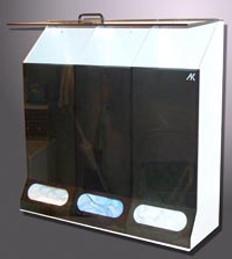 "4-Comp.Multi-Purpose Disp. Smoke Acrylic - 40""W X 30""H X 10""D"