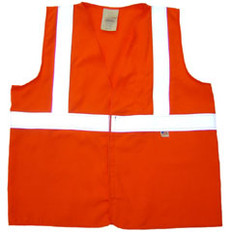 Arc Flame Resistant Orange Class 2 Vest with Silver stripes - Velcro Front