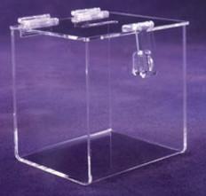 "Ballot Box With Hasp & Lock - 10""W X 10""H X 9-3/4""D"