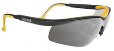 DeWalt High Performance Dual Injected Rubber Safety Glasses with Silver Mirror Lens