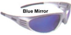 Dewalt #dpg56-7 Ventilator Safety Eyewear Silver Frame w/ Blue Mirror Lens