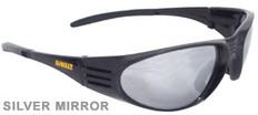 Dewalt #DPG56B-6 Ventilator Safety Eyewear Black Frame w/ Silver Mirror Lens