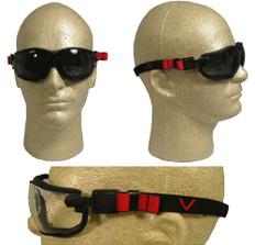Pyramex #GB1820ST V2G Safety Eyewear w/ Fog Free Smoke Lens