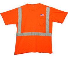 Class Two Level 2 ORANGE safety SHIRTS with Silver stripes