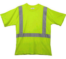 Class Two Level 2 LIME safety SHIRTS with Silver stripes