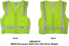 MESH Surveyors Vest Lime w/ Silver Stripes