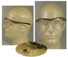 MCR Crews #MO110 Mossy Oak Safety Eyewear w/ Clear Lens