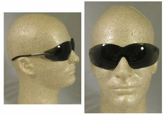 MCR Crews #S2112AF Blackjack Safety Eyewear w/ Fog Free Smoke Lens