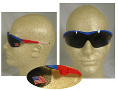 MCR Crews #ST142 Storm Safety Eyewear American Flag Logo w/ Smoke Lens