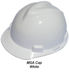 MSA V-Gard Cap With SWING Suspension White