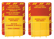 MSDS Right-To-Know Center, English - Includes MSDS sign, 1.5 inch binder, and wire rack