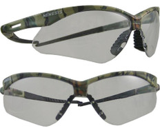 Jackson Nemesis CAMO Frame Safety Glasses with Clear Anti-Fog Lens