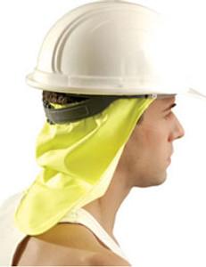 Occunomix #971-HVY Safety Helmet Yellow Neck Shade
