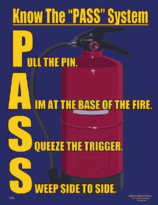 PASS FIRE Safety Poster - 18X24