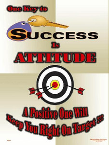 Key To Success Is Attitude Poster - 18X24