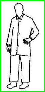 Polypropylene Lab Coat Fold Down Collar - Elastic Wrists, no pocket (30 per case)