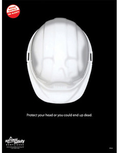 Protect Your Head Safety Poster - 18X24