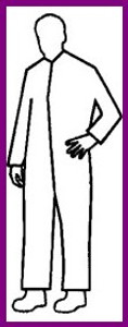 Pyrolon Plus II SMS Standard Suit w/ Zipper Collar (25 per case)