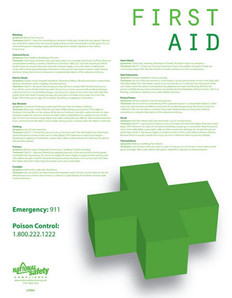 First Aid Safety Poster (18 by 24 inch)