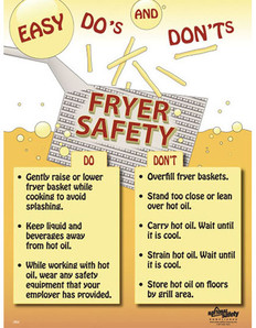Fryer Safety Poster (18 by 24 inch)
