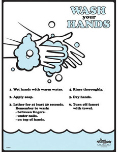 Hand Washing Poster (18 by 24 inch)