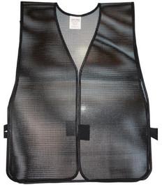 Safety Vest  Plain PVC Coated  Black