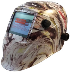 Auto Darkening Hydro Dipped Welding Helmet -  American Camo Design - HDWH-704