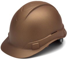 Pyramex  Ridgeline Cap Style Safety Helmets with 4 Point RATCHET Liners - Copper Graphite Pattern