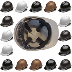 Pyramex Cap Style RIDGELINE Hard Hats - 4 Point Ratchet Suspensions - All Patterns